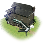Colonial House 3D Model