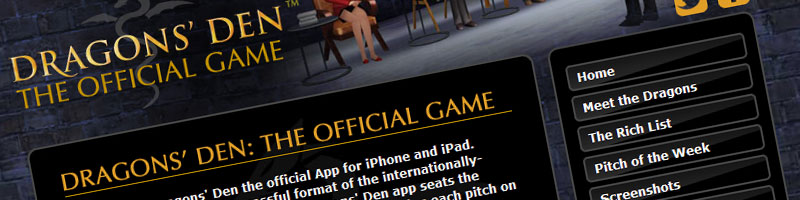 Dragons' Den - The Game for iPad and iPhone