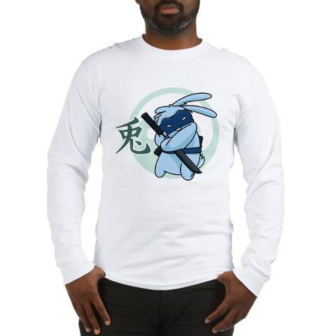 Ninja Beaver long sleeve Tee shirt - mens