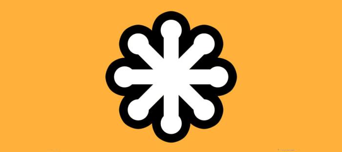 SVG logo - White on Orange