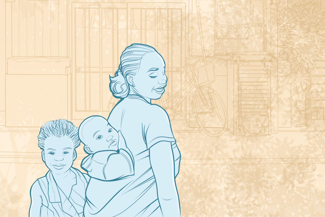 Ninja Beaver - On Our Radar - Illustration of women with two children