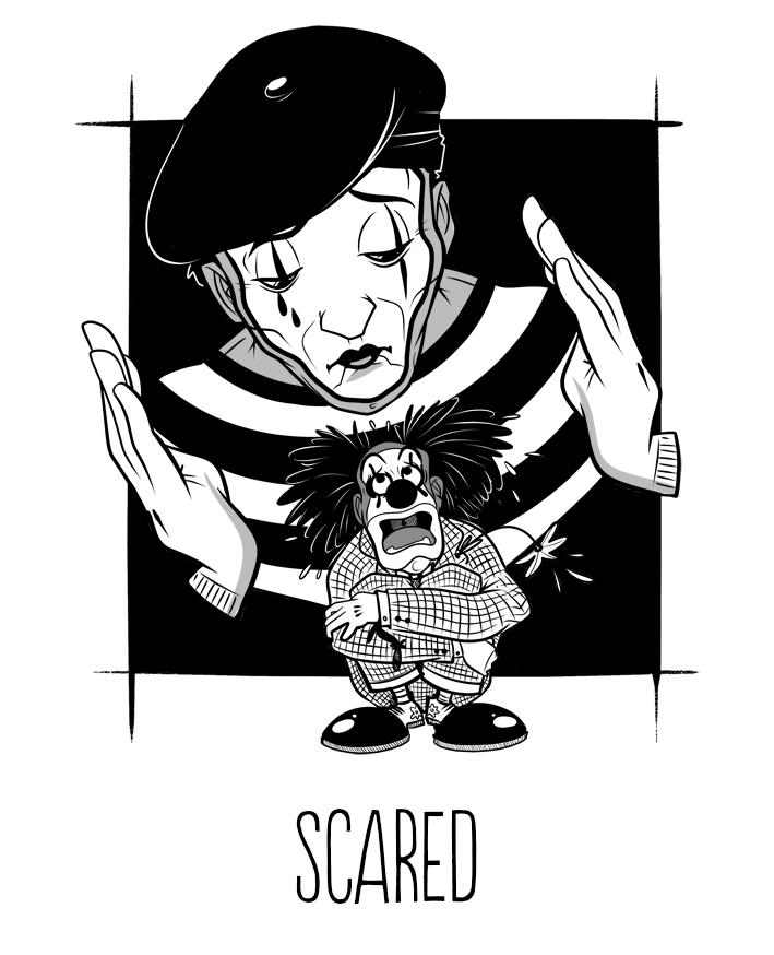 Inktober - Scared