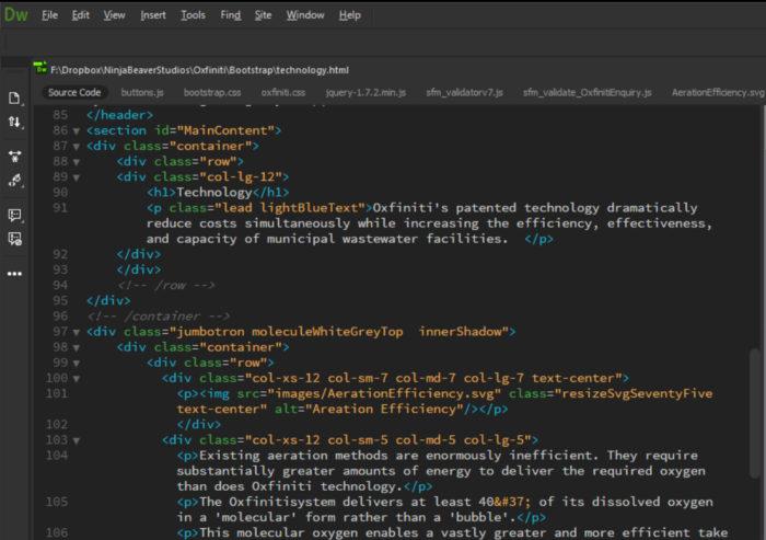 UI scaling - Dreamweaver Code View