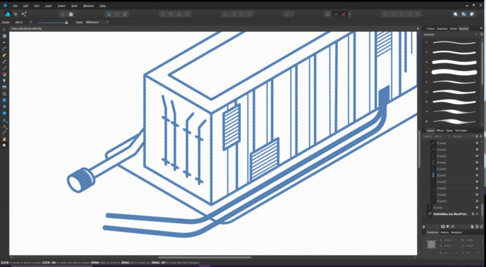 Affinity Designer - Isometric Grid close-up