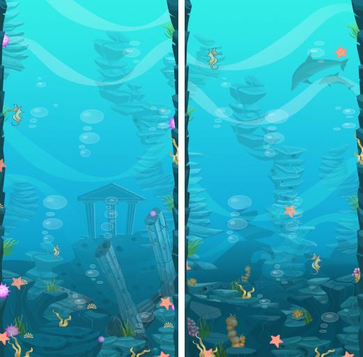Nintendo DFS background image underwater