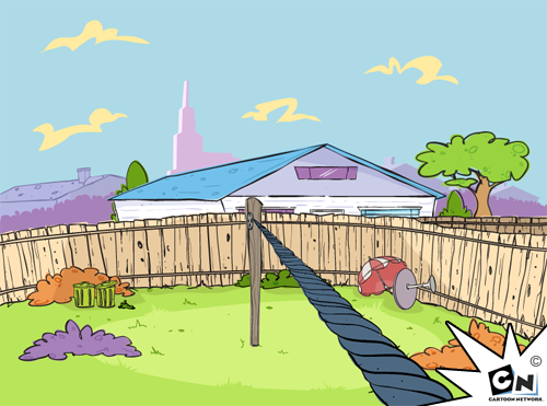 Tightrop background for Ed, Edd and Eddy browser based game