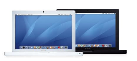 Macbooks white and black