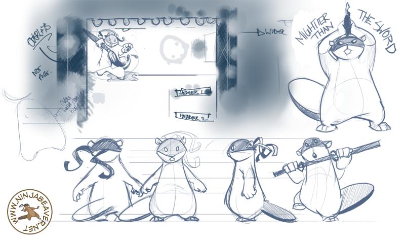 Ninja Beaver Sketches