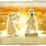 Happy bear family image