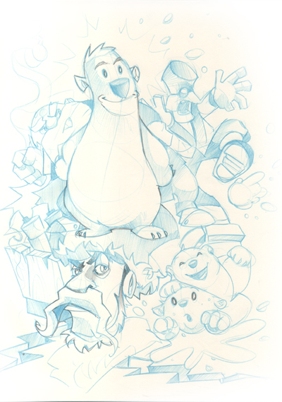 Polar Panic Sketches