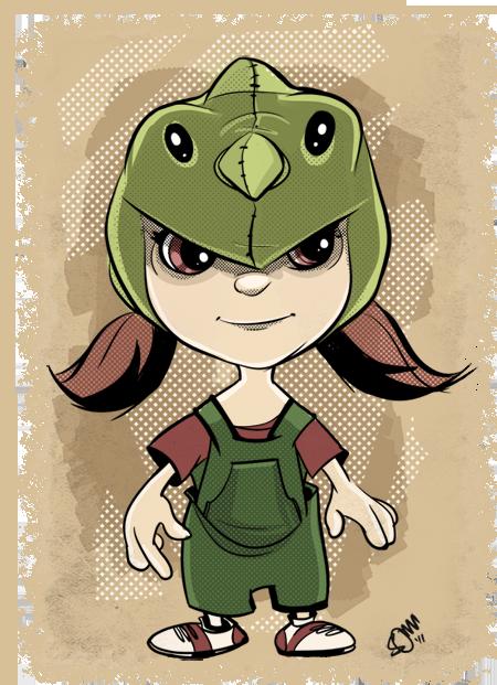 Little Girl in Hood Illustration - Manga Studio EX and Photoshop