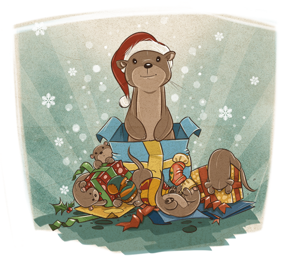 Merry Christmas - Otter Style
