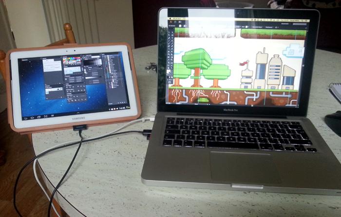 Dual screen Mobile setup image