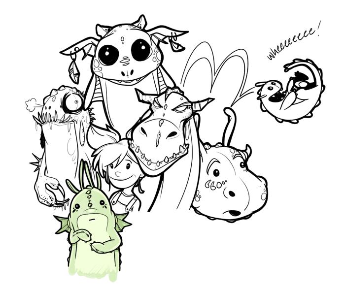 Art created in Mischief app - dragons