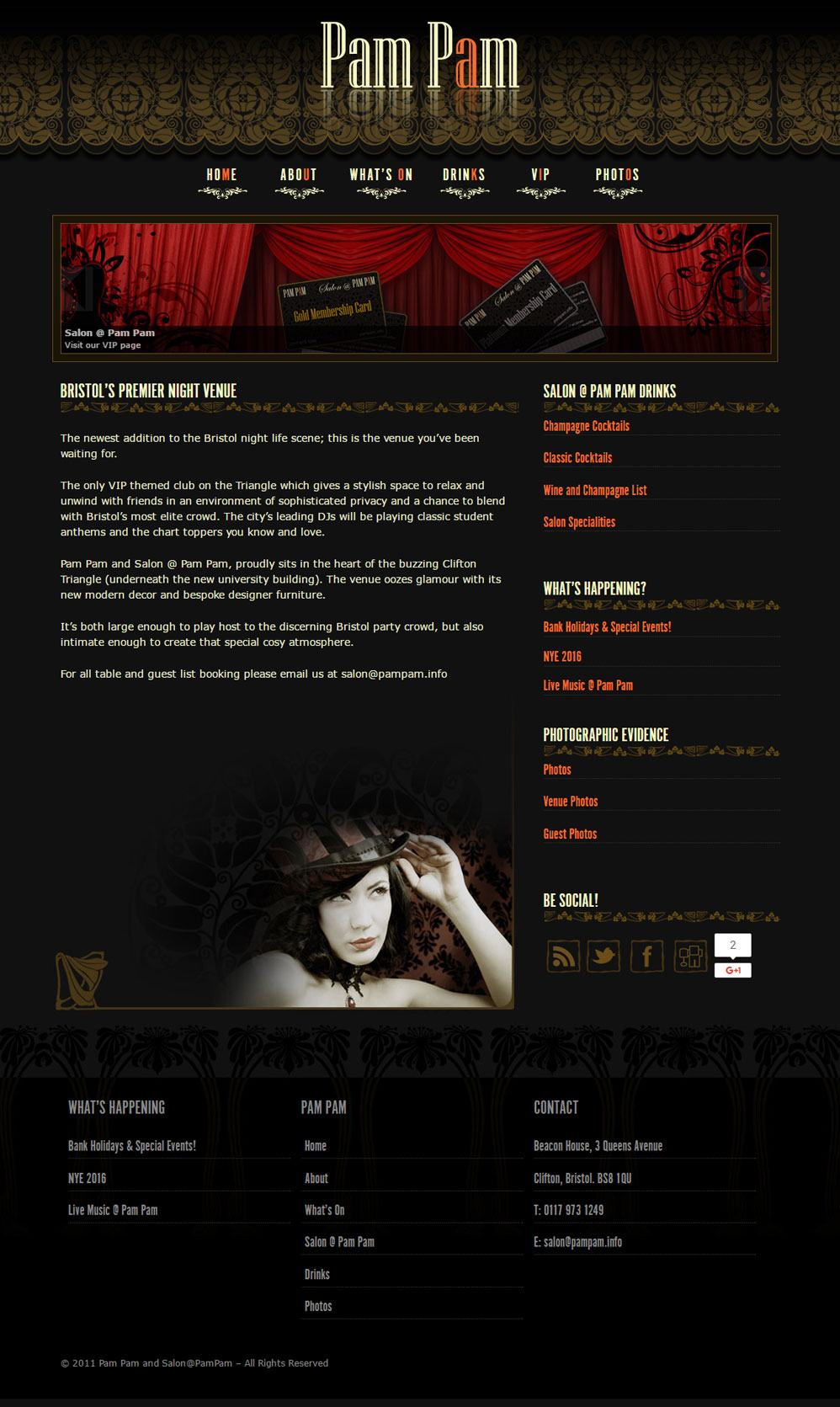 Ninja Beaver - Bar Pam Pam Website