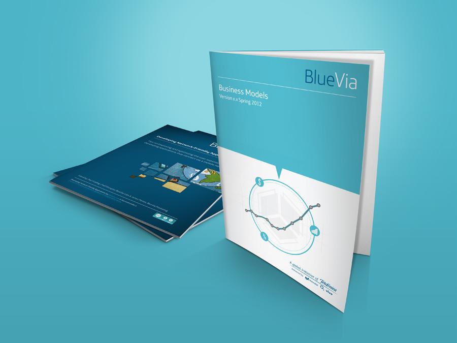 Ninja Beaver - BlueVia print design - business guide