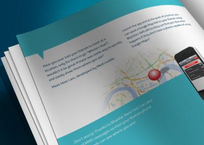 BlueVia print design - CaseStudy