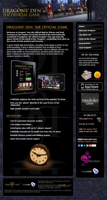 Ninja Beaver - Dragons Den Website