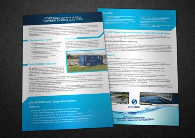 Oxfiniti print design double-sided flyer
