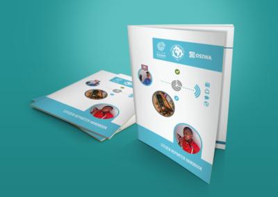 On Our Radar print design Citizen Reporter Handbook 1