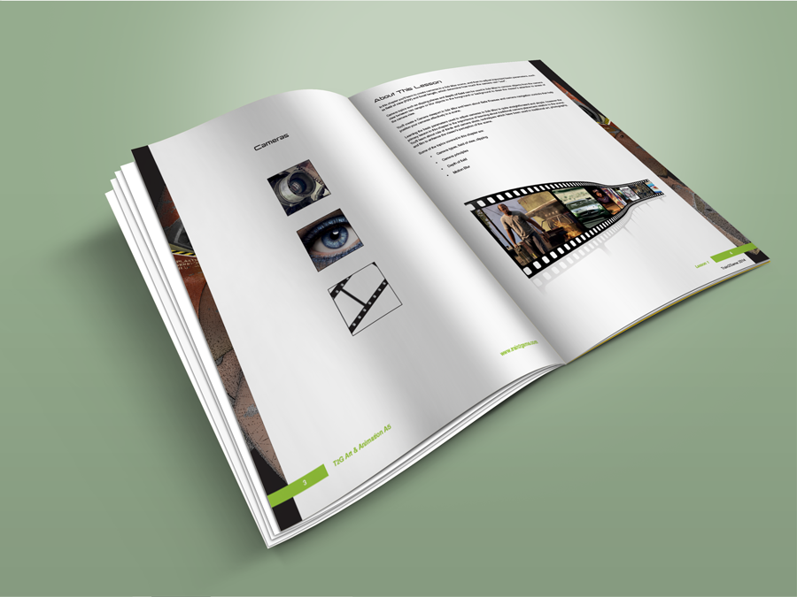 Train2Game print design Artist and animator coursebook 1