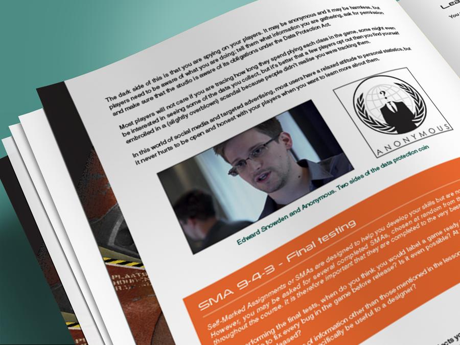 Train2Game print design computer Game Designer coursebook 2