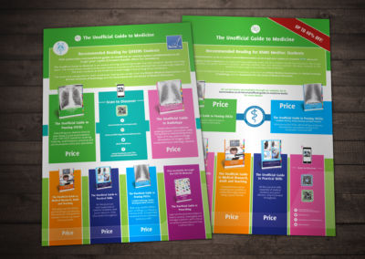 Unofficial Guide to Medicine print design promo flyers