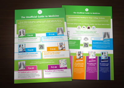 Unofficial Guide to Medicine print design promo ads