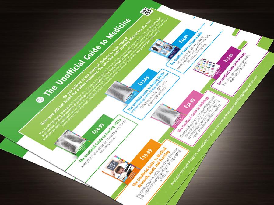 Ninja Beaver - Unofficial Guide to Medicine print design promotional material