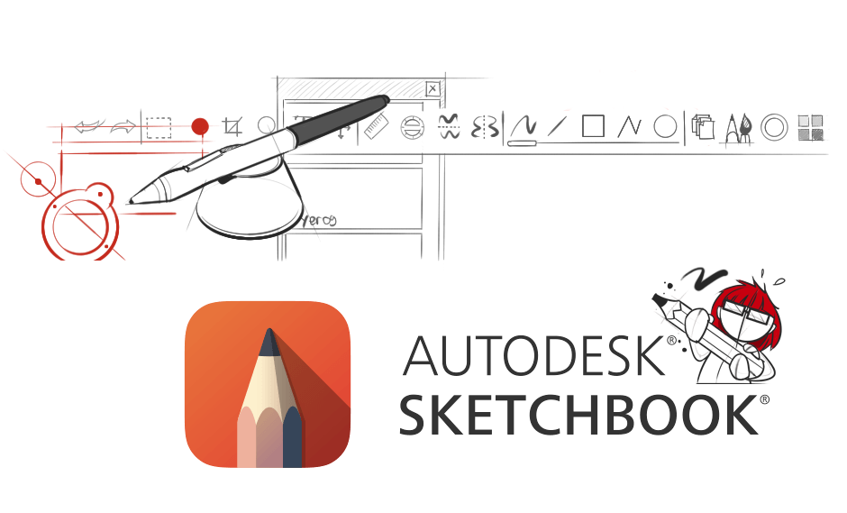 Autodesk Sketchbook Pro interface sketch