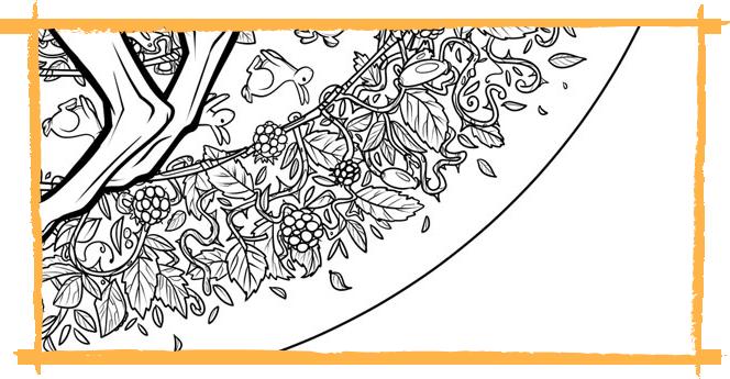 Linework colouring book Ninja Beaver 1